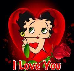 betty boop i love you Imagenes Betty Boop, Good Night I Love You, Black Betty Boop, Animated Cartoon Characters, Betty Boop Cartoon, Betty Boop Pictures, Morning Humor, Hello Kitty, Animation