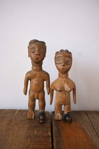 Image of Fon wooden twin figures