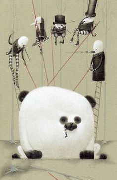 ♥ illustration - ladyparasol: art by Bill Carman Art And Illustration, Illustrations Posters, Surface Art, Panda Art, Pop Surrealism, Concept Art, Character Design, Creations, Artsy