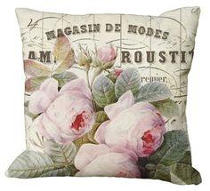 Romantic Pink Rose Bouquet 20x20 or 18x18 or by Soeuralasoeur