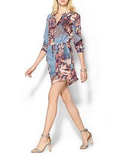 Piperlime Collection Silk Drawstring Shirtdress   Piperlime