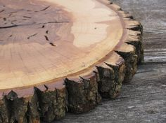 Tree Slice Cake Stand Perfect for Your Wedding by whippoorwheel