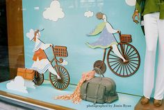 Whimsical retail display in Seoul. #retail #merchandising #display #graphic #illustration #windowdisplay
