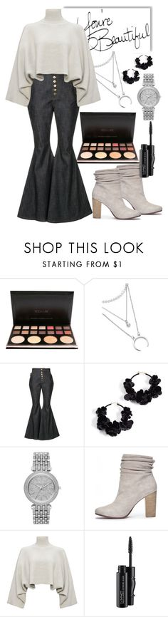 """You're beautiful"" by succe ❤ liked on Polyvore featuring E L L E R Y, Oscar de la Renta, Michael Kors, Chinese Laundry, Jaeger and MAC Cosmetics"