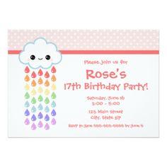 Convites Nuvem De Chuva, Convites de casamento, aniversário ou festas