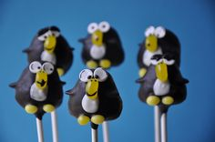 Adorable penguin cake pops
