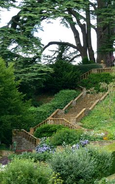 Staircase at Upton House, Warwickshire, England by Jayembee69