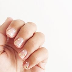 star sequined manicure