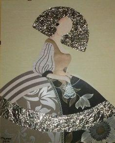 Art Pop, Easy Canvas Painting, Figure Painting, Fashion Illustration Dresses, Ceramic Figures, Illustrations, Paint Designs, Oeuvre D'art, Art Pictures