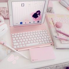 So cute 💗 Study Room Decor, Cute Room Decor, Kawaii Bedroom, Otaku Room, Accessoires Iphone, Gaming Room Setup, Game Room Design, Gamer Room, Everything Pink