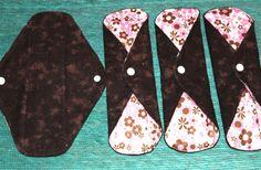 Set of 4 Cloth Pads Cotton/ PUL Menstrual by JuliansBoutique