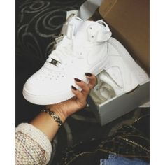 ♡Air Force 1's Mid-Cut size 6 little boys or 8 womens, have to custom make them all white on ebay. these exact pair please. only mids not lows