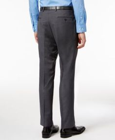 Lauren Ralph Lauren Men's Classic-Fit Charcoal Houndstooth Dress Pants - Charcoal 34x32