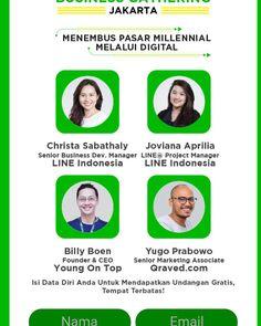 Event menarik ini.. buat kamu2 yg di Jakarta  Kamis 4 Mei 2017 Jam 09:30 Soehanna Hall The Energy Building Jln Jendral Sudirman Kav 52-53 SCBD  Registrasi via LINE BUSINESS CENTER di aplikasi LINE