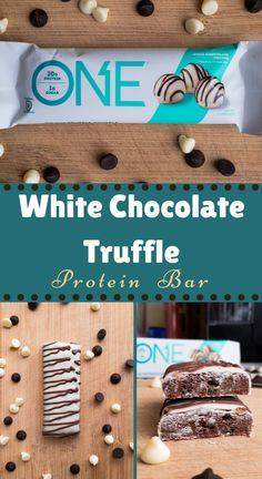 A delicious and healthy chocolate snack. One of the best protein bars you can buy. A low sugar dessert and high protein snack. This triple chocolate bar is such an easy dessert and quick snack. White Chocolate Desserts, Healthy Chocolate Snacks, Low Sugar Desserts, White Chocolate Truffles, High Protein Snacks, Chocolate Protein, Easy Desserts, Best Protein Bars, Protein Powder Recipes
