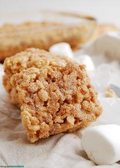 Snickerdoodle Rice Krispie Treat Dessert Recipe by Allergy Awesomeness Cookie Recipes, Dessert Recipes, Dairy Free Treats, Rice Crispy Treats, Krispie Treats, Low Sodium Recipes, Allergy Free Recipes, Thanksgiving Desserts, Rice Krispies