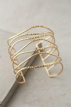 Clustered Crest Cuff - anthropologie.com #anthrofave #goldbracelets