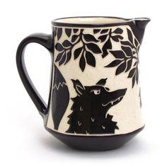 Katherine Hackl sgraffito black and white pottery ceramics clay