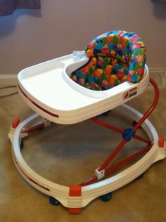 """My kids loved this. Especially """"walking"""" the cul de sac. Baby Cradle Wooden, Vintage High Chairs, Baby Equipment, Baby Supplies, Playpen, Baby Carriage, Ol Days, Toys For Boys, Baby Gear"""
