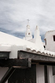 The white chapel in Binibeca (Menorca)