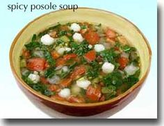 Spicy Posole Soup - Does a body good    Nutrition Nutrient %Daily Value  vitamin K599.4%  vitamin C159.4%  vitamin A117.8%  manganese32%  dietary fiber24%  calcium14.9%  iron13.3%  vitamin B6 (pyridoxine)13%  tryptophan12.5%  copper12%  Calories (135)7%