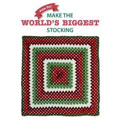 Big Granny Square Blanket Square for Stocking
