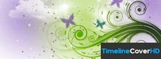 Purple And Green Floral Swirl Pattern Facebook Cover Timeline Banner For Fb Facebook Covers