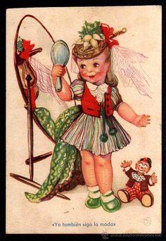 Antigua postal infantil. Ediciones de Arte 8/119. Circulada 1941