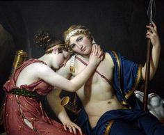 The Farewell of Telemachus and Eucharis, Jacques Louis david, ca. 1818