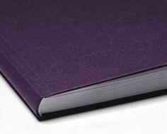 Notizbuch aus dem samtig weichen Covermaterial SAVILE ROW PLAIN, Aubergine
