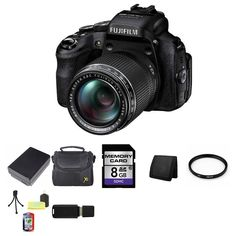 Fujifilm FinePix HS50EXR 16MP Digital Camera Bundle