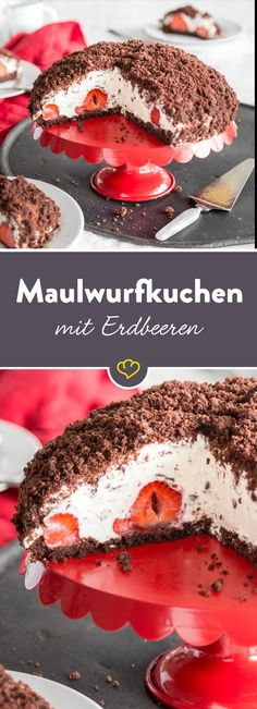 Goodbye baking mix: make mole cake yourself- Backmischung adé: Maulwurfkuchen selber machen The bananas have had their day: the summery coffee gossip makes juicy-sweet strawberries with fluffy cream curd just great as a filling. Baking Recipes, Cake Recipes, Dessert Recipes, German Cakes Recipes, Brunch Recipes, Food Cakes, Mole, Mexican Food Recipes, Sweet Recipes
