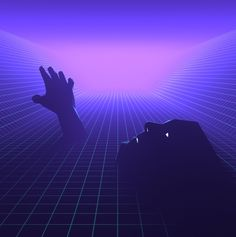 Synthwave, synthpop inspired 3d piece.
