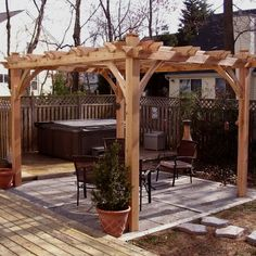 Gorgeous Pergola Kits Lowes Outdoor Living Today 8 Ft X 10 Ft Cedar Breeze Pergola The quickest, best technique to arrange a superbly designed garden pergola is to order a pergola kit. These do it yourself style pergola development … Diy Pergola, Wood Pergola Kits, Cedar Pergola, Building A Pergola, Pergola Canopy, Pergola Swing, Pergola With Roof, Outdoor Pergola, Wooden Pergola