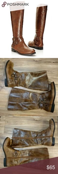 Tall leather boots with buckles Very cute brown boots. Lightly worn great condition! Made in Brazil. Matisse Brazilian coconuts boots. Add a little shoe polish to the toe and these will be good as new ;) Matisse Shoes Over the Knee Boots