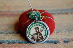 Saint Patrick devotional medal created in the Diddy Wa Diddy studios.