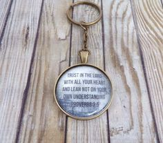 Trust In The Lord With All Your Heart Bible Verse Key Chain