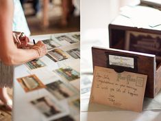 Neat guestbook idea. Sofia & Ben | Playful Wedding at Prospect Park Boathouse | Snippet & Ink
