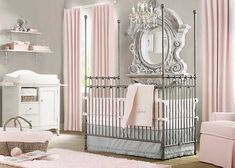 Great Baby Room Ideas For Your Lovely Kids: Elegant Pink White Gray Baby Girl Room Of Baby Room Ideas ~ OHomeDesign Baby Nursery Inspiration Baby Room Design, Nursery Design, Nursery Room, Nursery Decor, Nursery Ideas, Nursery Themes, Bedroom Ideas, Themed Nursery, Bedroom Designs