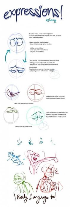 Trendy Drawing Tutorial Face Facial Expressions Ideas