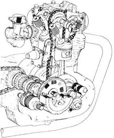 Yamaha XS 650 Engine Cutaway Views