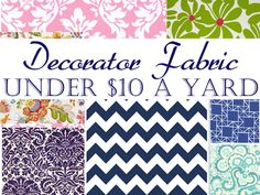 Under $10 a Yard: Online Decorating Fabric Sources. I have used hawthorne threads before and they have cute stuff its just all quilting weight.