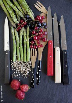 Couteau de table Bon Appétit esprit Loft (coffret x4) Opinel
