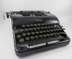Vintage Corona Typewriter Floating Shift with by WesternKyRustic
