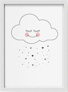Eef Lillemor poster cloud 29.7 x 42 cm   PSikhouvanjou