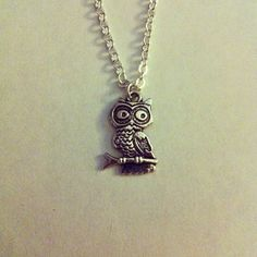 Silver Owl on a Branch Necklace by Mabooshka on Etsy, £6.00