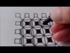 How to draw tanglepattern Dex - YouTube