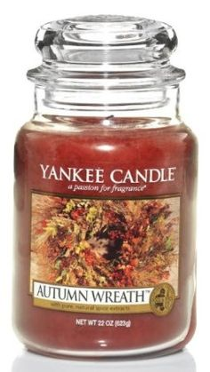 Amazon.com: Yankee Candle Large 22-Ounce Jar Candle, Autumn Wreath: Home & Kitchen