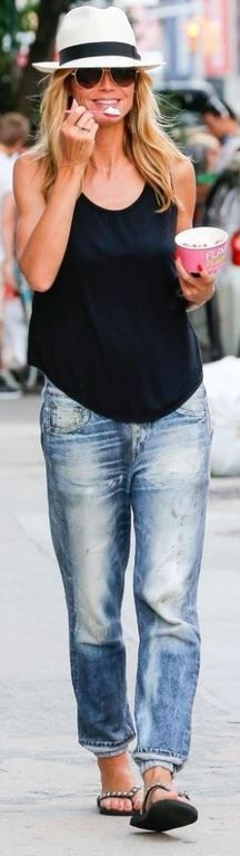 Baggy rag and bone jeans.  You can do this with your white t-shirt we bought today.