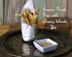 Sesame French Fries with Creamy Wasabi Dipping Sauce